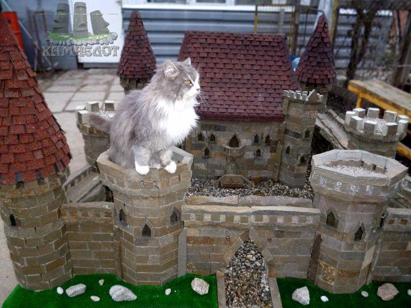 Как построить дом-замок своими руками